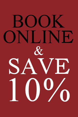 Book Online & Save 10%