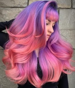 PINK AND LILAC HAIR COLOUR, Guy Tang hair colour, Red Hair Salons, East Sussex