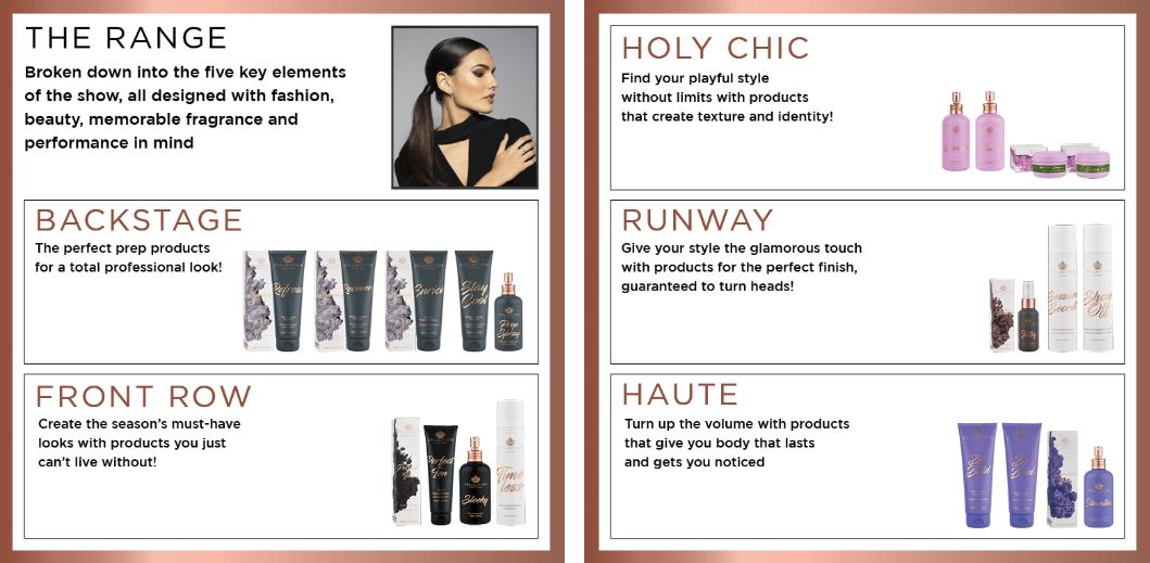 collection hair care and styling products