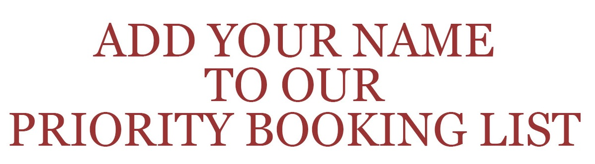 ADD YOUR NAME TO OUR PRIORITY BOOKING LIST, RED HAIR SALONS, RYE, HASTINGS, BATTLE